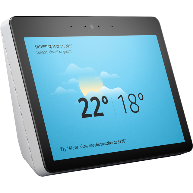"Amazon Echo Show (2nd Gen) Smart Speaker with Alexa - 10.1"" Screen - White - B079396DXC - 1"