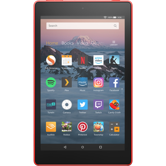 "Amazon Fire HD 8"" 32GB Wifi Tablet with Alexa - Punch Red - B0794XTH9X - 1"