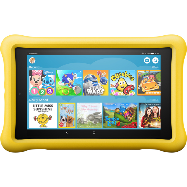"Amazon Fire HD Kids Edition 8"" 32GB WiFi Tablet with Alexa - Yellow - B0794XWCD4 - 1"
