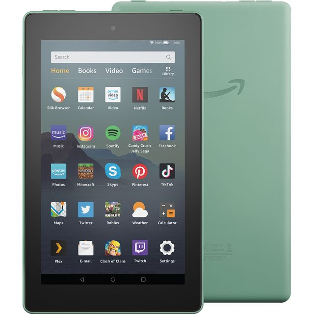 "Amazon Fire 7"" 16GB Wifi Tablet - Sage Green - B07JPLKTNF - 1"
