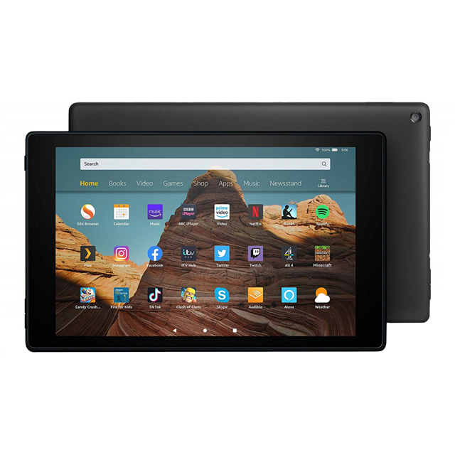 "Amazon Fire HD 10.1"" 32GB Wifi Tablet with Alexa [2019] - Black - B07KD63BQ5 - 1"