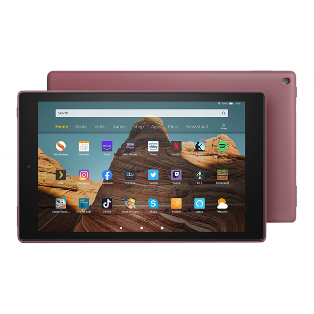 "Amazon Fire HD 10.1"" 32GB Wifi Tablet with Alexa [2019] - Plum - B07KD718F4 - 1"
