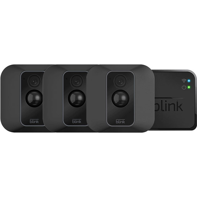 Blink XT2 Smart Home Security Camera - 3 Camera System Full HD 1080p - Black