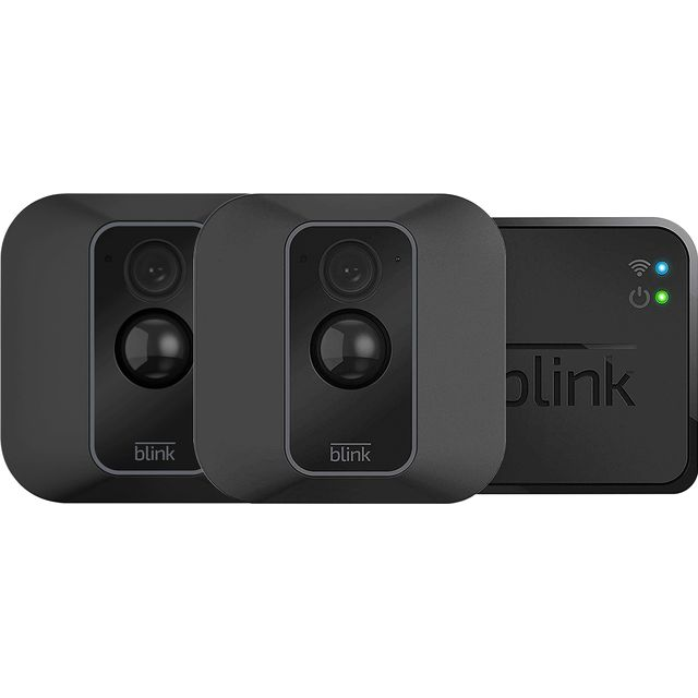 Blink XT2 Smart Home Security Camera - 2 Camera System Full HD 1080p - Black