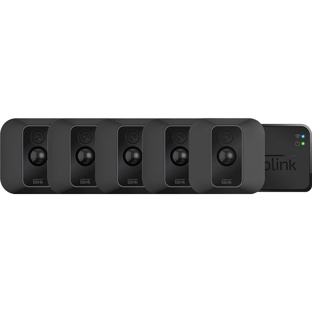 Blink XT2 Smart Home Security Camera - 5 Camera System Full HD 1080p - Black