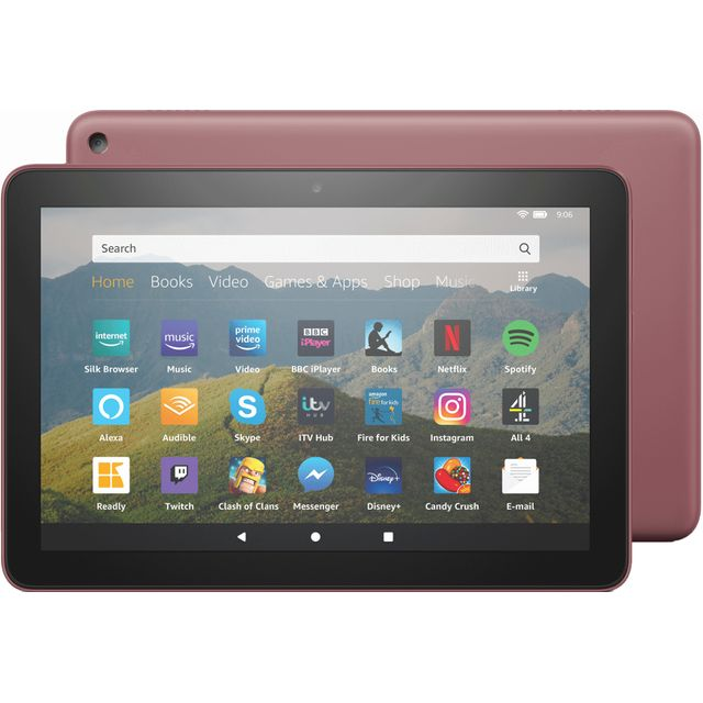 "Amazon Fire HD 8"" 32GB Wifi Tablet - Plum"