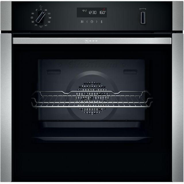 NEFF N50 B2ACH7HH0B Built In Electric Single Oven - Stainless Steel - B2ACH7HH0B_SS - 1