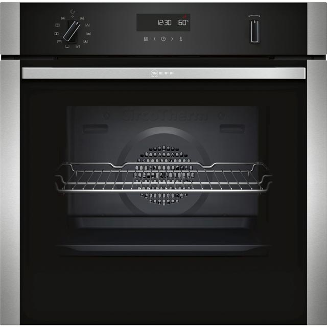 NEFF N50 B2ACH7HN0B Built In Electric Single Oven - Stainless Steel - A Rated - B2ACH7HN0B_SS - 1
