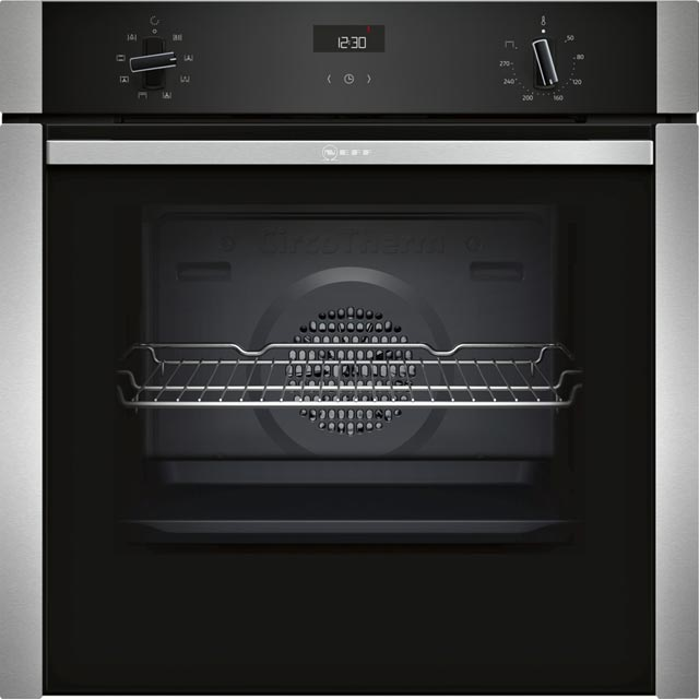 NEFF N50 Slide&Hide B3ACE0AN0B Built In Electric Single Oven - Stainless Steel - A Rated