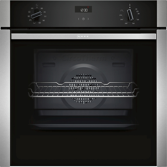 NEFF N50 Slide&Hide B3ACE4HN0B Built In Electric Single Oven - Stainless Steel - A Rated - B3ACE4HN0B_SS - 1
