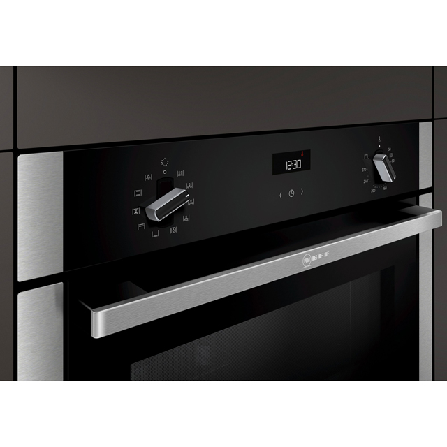 NEFF N50 Slide&Hide B3ACE4HN0B Built In Electric Single Oven - Stainless Steel - B3ACE4HN0B_SS - 5