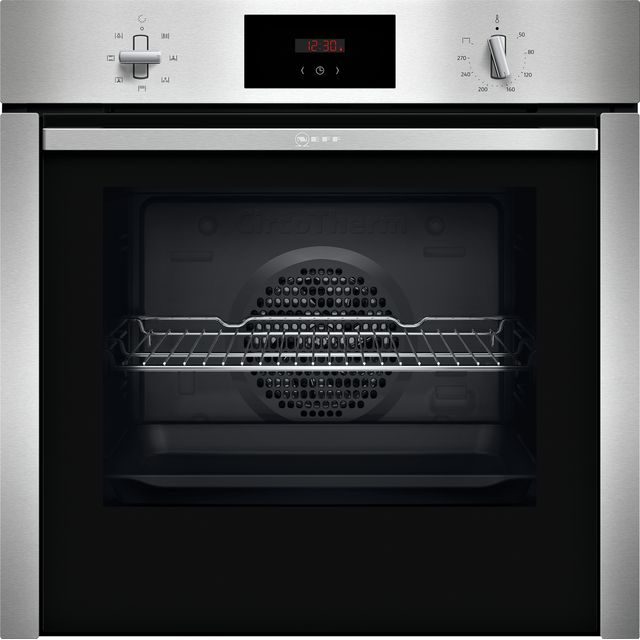 NEFF N30 Slide&Hide™ B3CCC0AN0B Built In Electric Single Oven - Stainless Steel - B3CCC0AN0B_SS - 1
