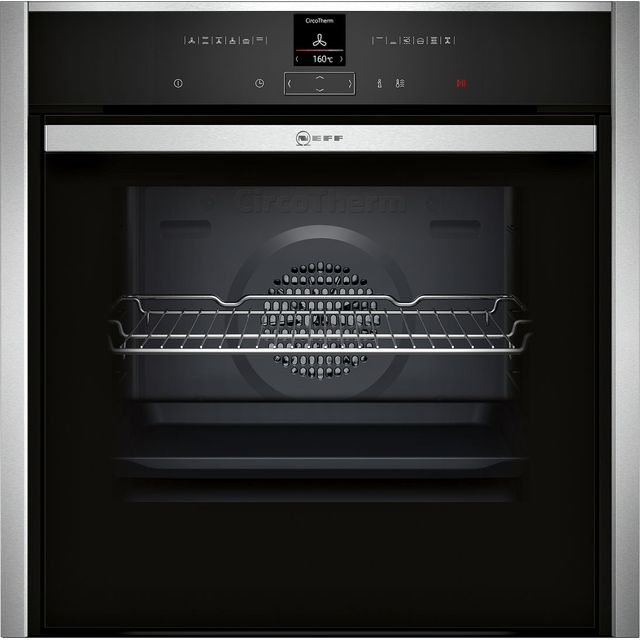 NEFF N70 Slide&Hide B47CR32N0B Built In Electric Single Oven - Stainless Steel - A+ Rated - B47CR32N0B_SS - 1