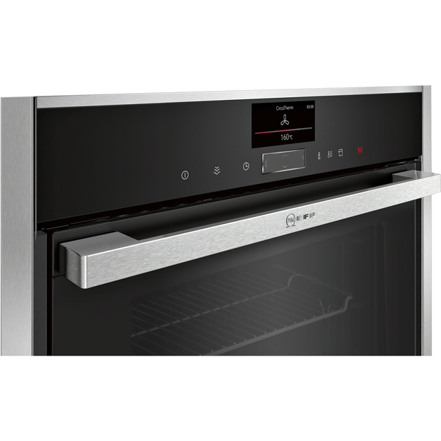 NEFF N90 Slide&Hide® B47FS34H0B Built In Electric Single Oven - Stainless Steel - B47FS34H0B_SS - 3
