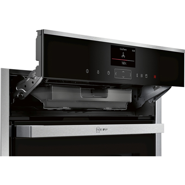 NEFF N90 Slide&Hide® B47FS34H0B Built In Electric Single Oven - Stainless Steel - B47FS34H0B_SS - 4