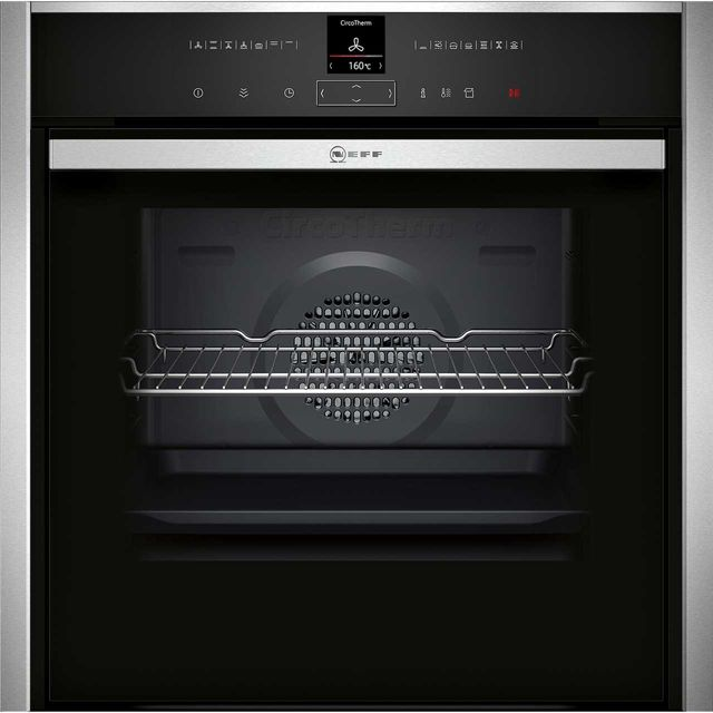NEFF N70 Slide&Hide™ B47VR32N0B Built In Electric Single Oven - Stainless Steel - B47VR32N0B_SS - 1