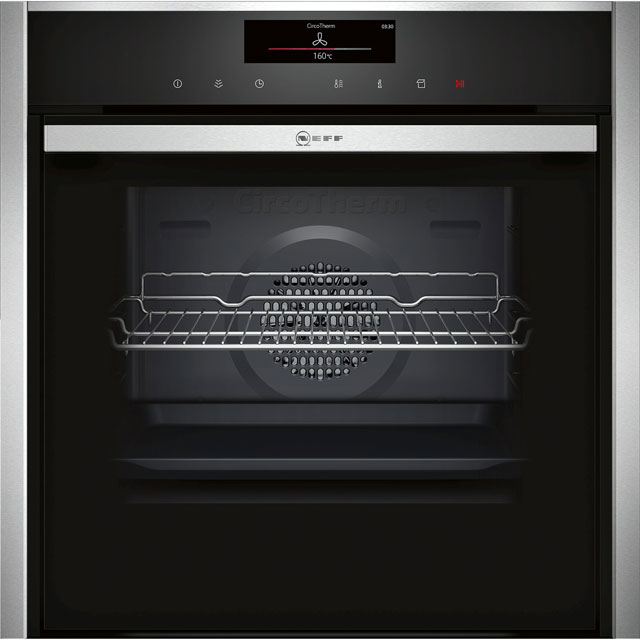 NEFF N90 Slide&Hide Electric Single Oven - Stainless Steel - A+ Rated