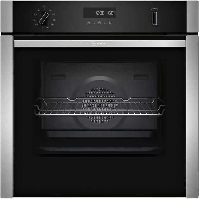 NEFF N50 Slide&Hide Integrated Single Oven in Stainless Steel
