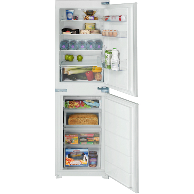 Belling B50509FF Integrated 50/50 Frost Free Fridge Freezer with Sliding Door Fixing Kit - White - A+ Rated