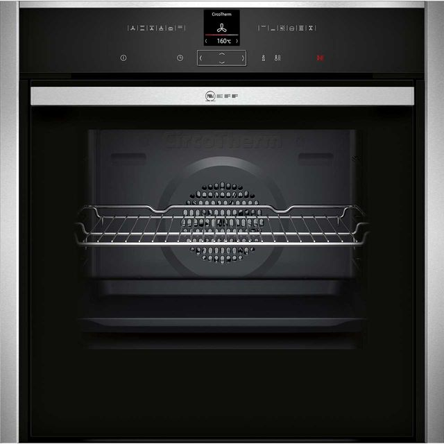 NEFF N70 Slide&Hide B57CR22N0B Built In Electric Single Oven - Stainless Steel - A+ Rated - B57CR22N0B_SS - 1