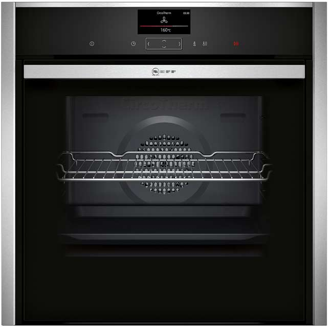 NEFF N90 Slide&Hide Electric Single Oven - Stainless Steel - A Rated