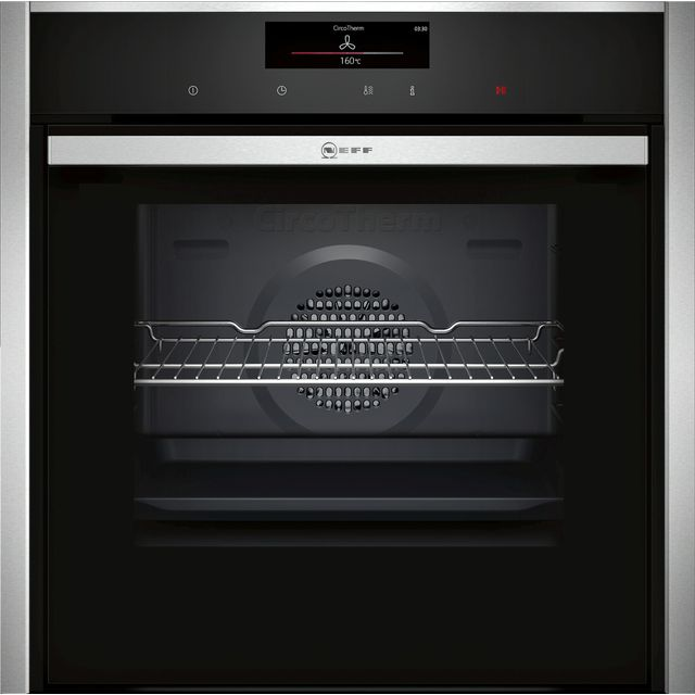 NEFF N90 Slide&Hide B58CT68H0B Wifi Connected Built In Electric Single Oven - Stainless Steel - A Rated - B58CT68H0B_SS - 1