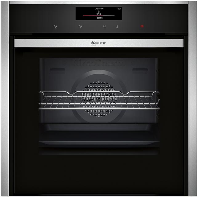 NEFF N90 Slide&Hide B58CT68N0B Built In Electric Single Oven - Stainless Steel - A Rated