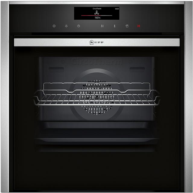NEFF N90 Slide&Hide B58VT68N0B Built In Electric Single Oven - Stainless Steel - B58VT68N0B_SS - 1