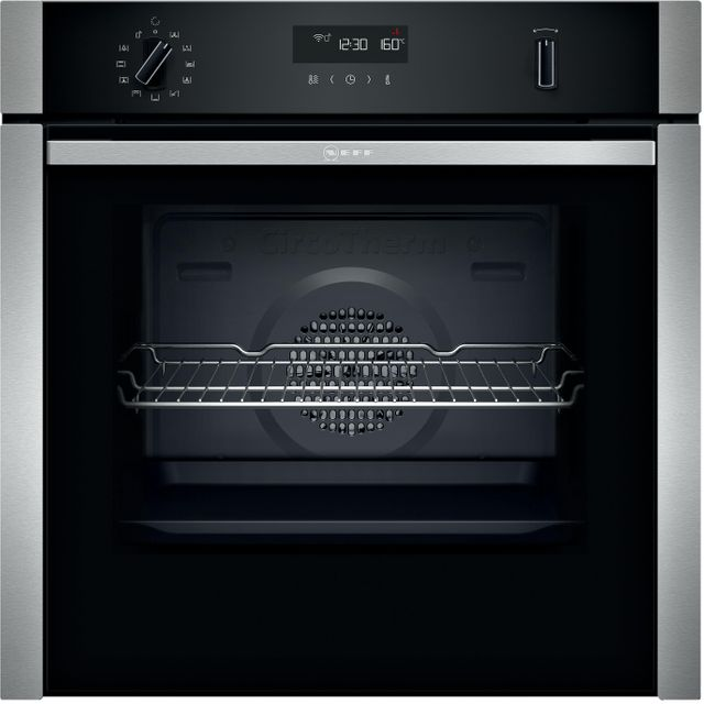 NEFF N50 Slide&Hide® B5ACH7AH0B Built In Electric Single Oven - Stainless Steel - A Rated