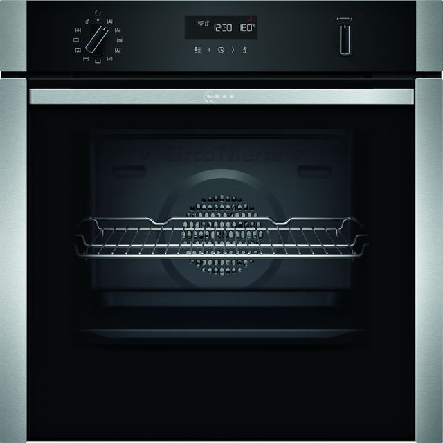 NEFF N50 Slide&Hide® B5ACM7HH0B Built In Electric Single Oven - Stainless Steel - B5ACM7HH0B_SS - 1