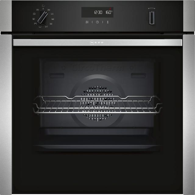 NEFF B5ACM7HN0B Integrated Single Oven in Stainless Steel