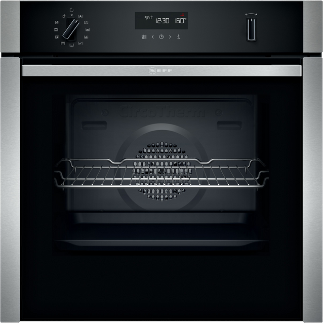 NEFF N50 Slide&Hide® B6ACH7HH0B Built In Electric Single Oven - Stainless Steel - B6ACH7HH0B_SS - 1