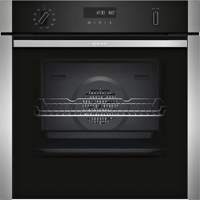 NEFF N50 Slide&Hide Electric Single Oven - Stainless Steel - A Rated