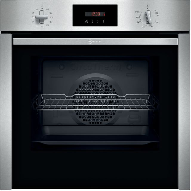 NEFF N50 Slide&Hide™ B6CCG7AN0B Built In Electric Single Oven - Stainless Steel - B6CCG7AN0B_SS - 1