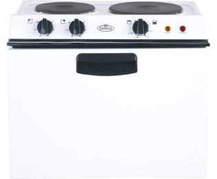 Belling BABY321R Electric Cooker with Solid Plate Hob - White Best Price, Cheapest Prices