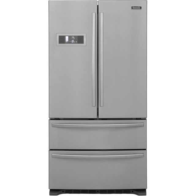 American Fridge Freezer With Drawers Part - 25: Baumatic B40DSS American Fridge Freezer - Stainless Steel
