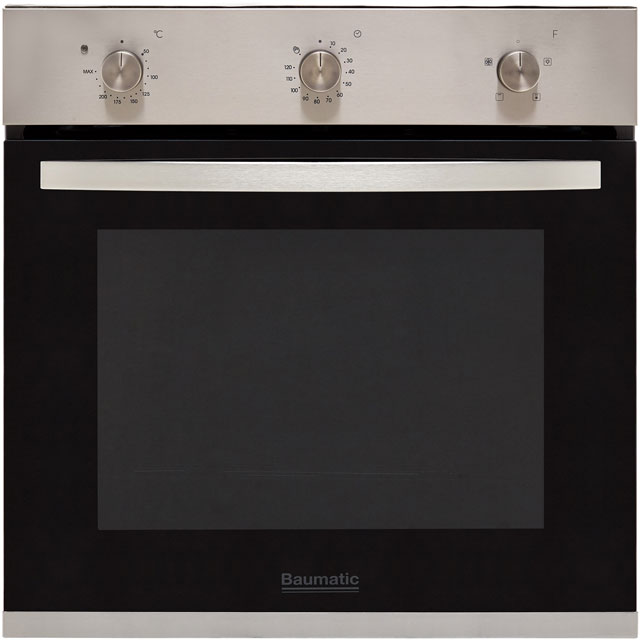 Baumatic BCPK605X Built In Electric Single Oven and Ceramic Hob Pack - A+ Rated