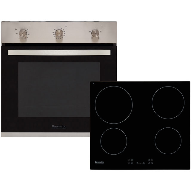 Baumatic BCPK605X Integrated Oven & Hob Pack in Stainless Steel / Black