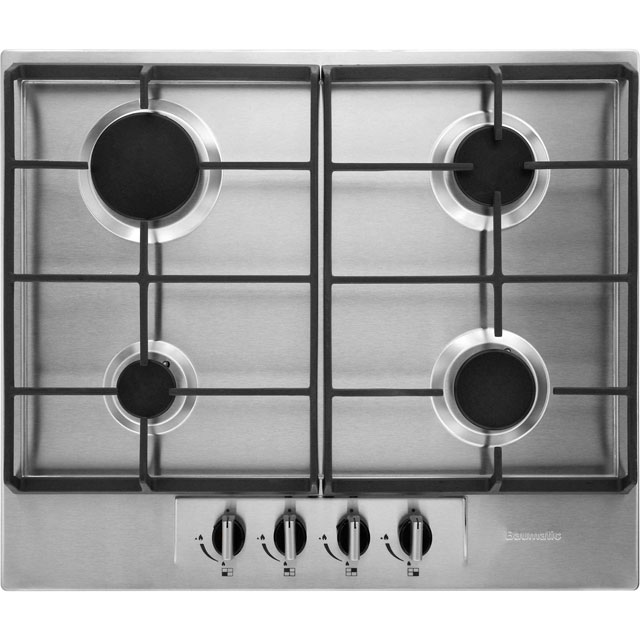 Baumatic BHG620SS 60cm Gas Hob - Stainless Steel - BHG620SS_SS - 1
