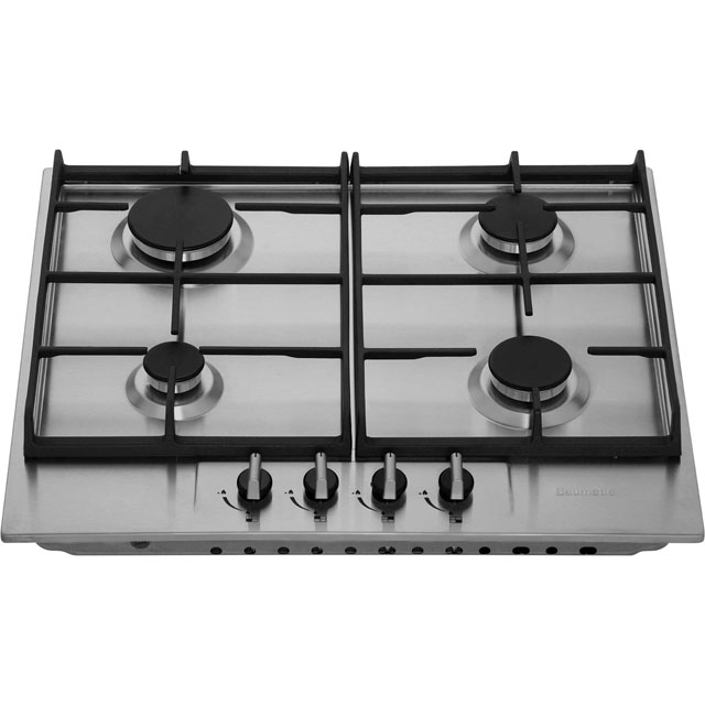 Baumatic BHG620SS Built In Gas Hob - Stainless Steel - BHG620SS_SS - 5