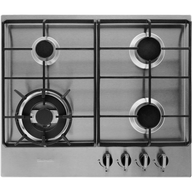 Baumatic BHG625SS 60cm Gas Hob - Stainless Steel - BHG625SS_SS - 1