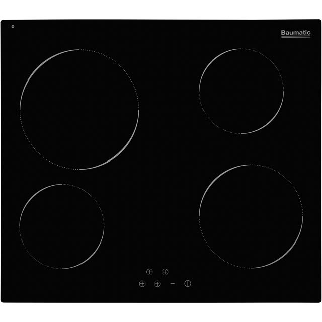 Baumatic BHIC6055 Built In Ceramic Hob - Black - BHIC6055_BK - 1
