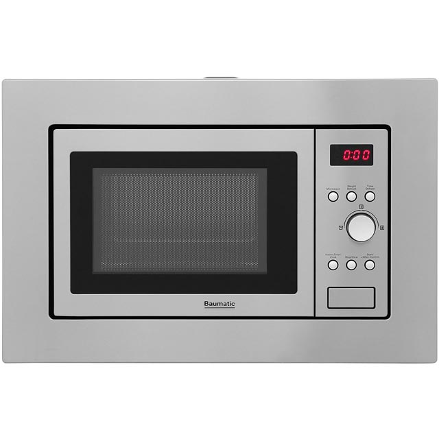 Baumatic BMIS3820 Built In Microwave - Stainless Steel - BMIS3820_SS - 1