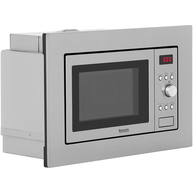 Baumatic BMIS3820 Built In Microwave - Stainless Steel - BMIS3820_SS - 3