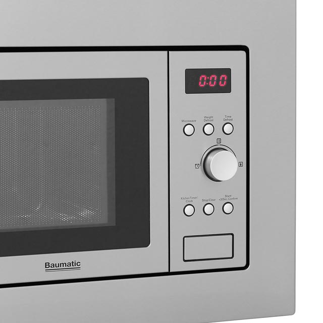 Baumatic BMIS3820 Built In Microwave - Stainless Steel - BMIS3820_SS - 4