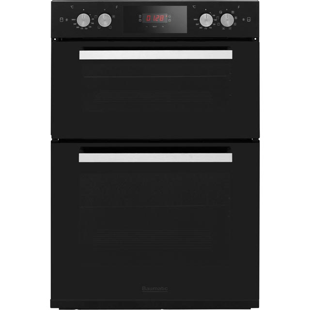 Baumatic BODM984B Built In Double Oven - Black - A/A Rated - BODM984B_BK - 1