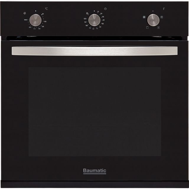 Baumatic BOFMU604B Built In Electric Single Oven - Black - BOFMU604B_BK - 1