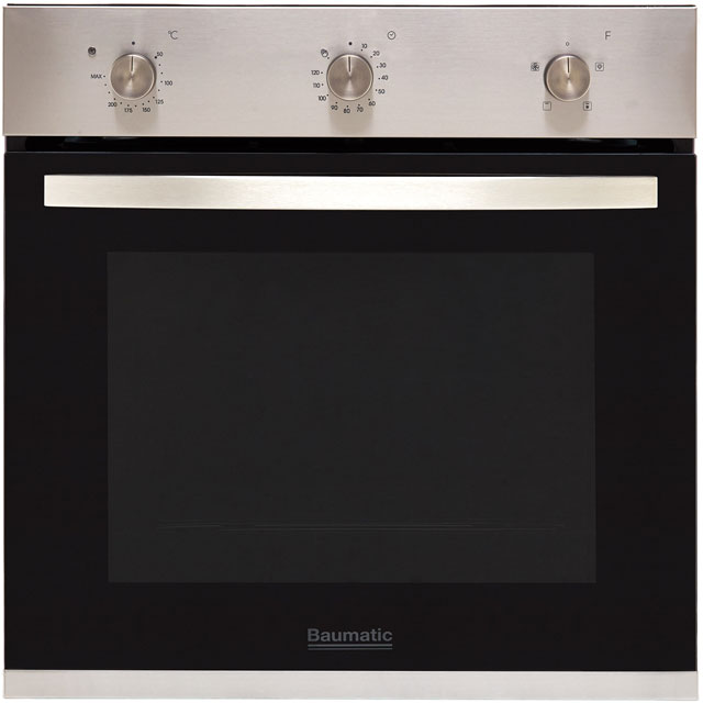 Baumatic BOFMU604X Built In Electric Single Oven - Stainless Steel - A+ Rated - BOFMU604X_SS - 1