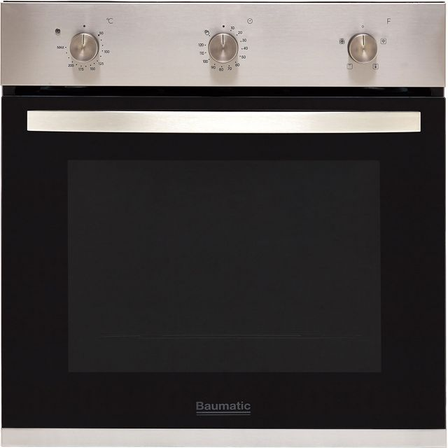 Baumatic BOFMU604X Built In Electric Single Oven - Stainless Steel - BOFMU604X_SS - 1