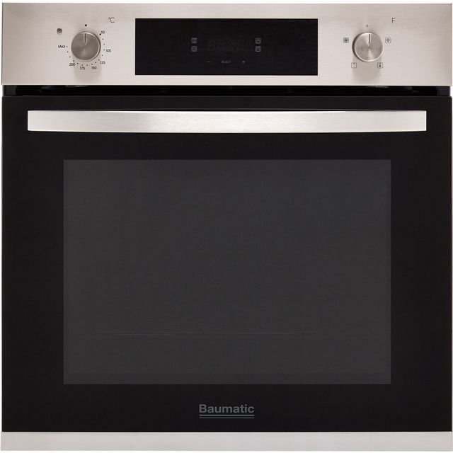 Baumatic BOFTU604X Built In Electric Single Oven - Stainless Steel - A Rated - BOFTU604X_SS - 1